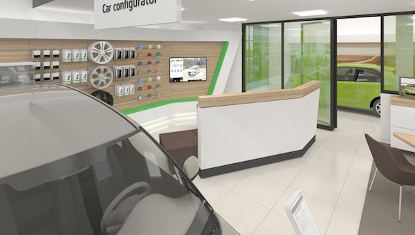 Nový design prodejen Škoda Auto: konfigurátor vozů