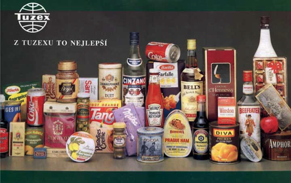 Sortiment prodejny zahraničního obchodu Tuzex