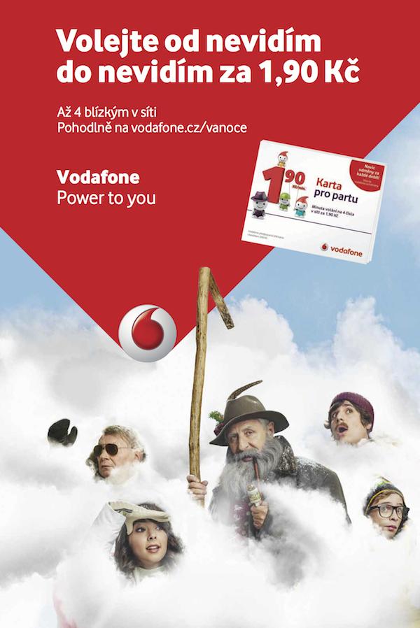 Vánoční inzerát Vodafonu s Návštěvníky a Karlem Heřmánkem