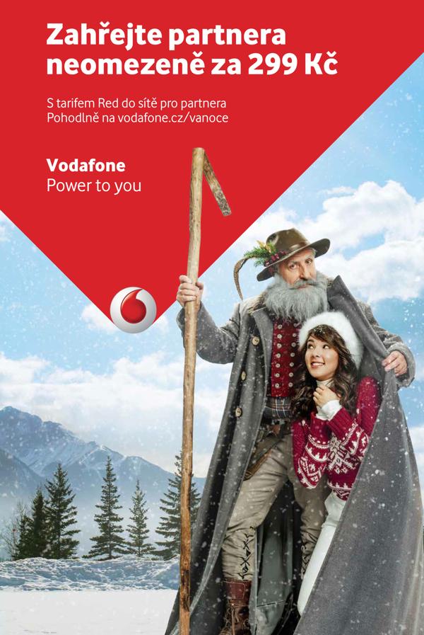 Vánoční inzerát Vodafonu s Karlem Heřmánkem