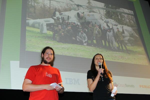Eduard Kučera z Avastu a jeho kolegyně z HR Kamila hledají na AppParade mladé nadějné vývojáře. Foto: Tomáš Pánek