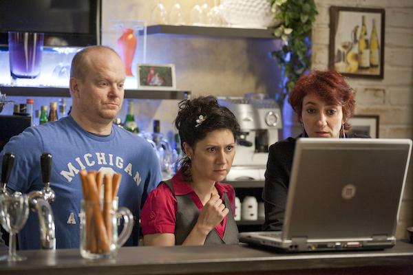 David Novotný, Martha Issová, Simona Babčáková. Foto: Česká televize