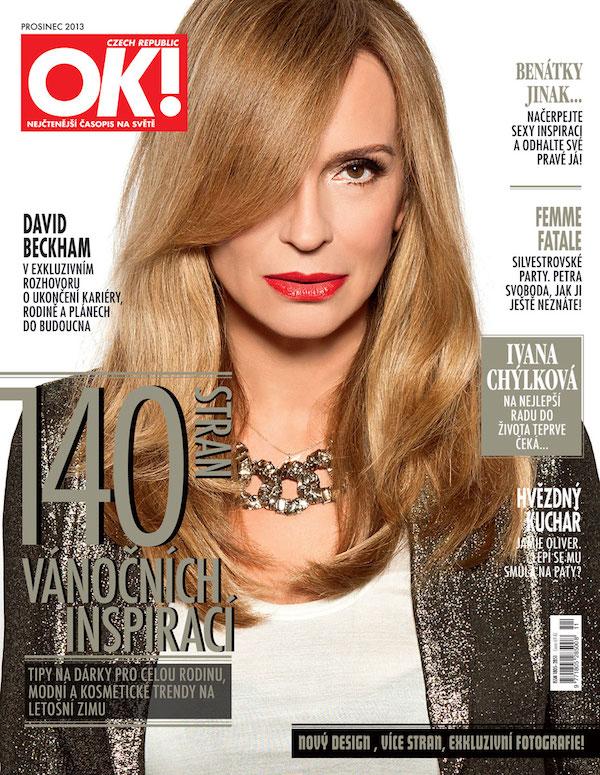 Nová titulní strana časopisu OK!