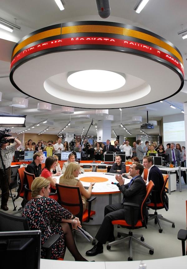 O činnost agentury RIA Novosti se zajímal i Putinův předchůdce Dmitrij Medveděv. Foto: Profimedia.cz
