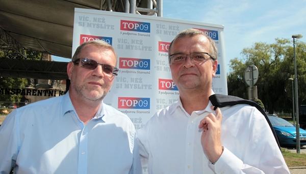 Viliam Buchert a Miroslav Kalousek, konec srpna 2012, Hostivice. Foto: Radek Cihla / Mafra / Profimedia.cz