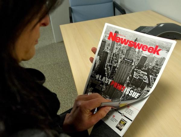Poslední číslo amerického Newsweeku vyšlo na papíře 31. prosince 2012. Foto: Profimedia.cz