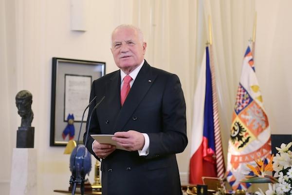 Václav Klaus přednesl prezidentský novoroční projev naposledy 1. ledna 2013. Foto: Profimedia.cz