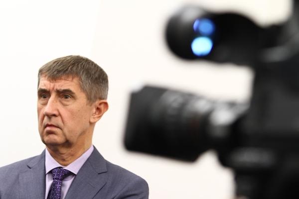 Andrej Babiš na tiskové konferenci několik dní před volbami. Foto: Profimedia.cz