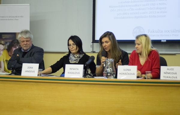 Diskutéři Jan Jirák, Zora Jandová, Renata Kaslová a Ilona Horáčková. Foto: Tereza Menclová