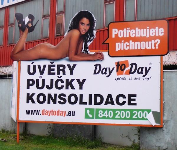 Údajně sexistická reklama