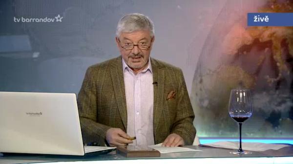 Vladimír Železný v pořadu Volejte Železnému. Repro: barrandov.tv