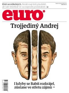 Obálka 2. čísla časopisu Euro v roce 2014