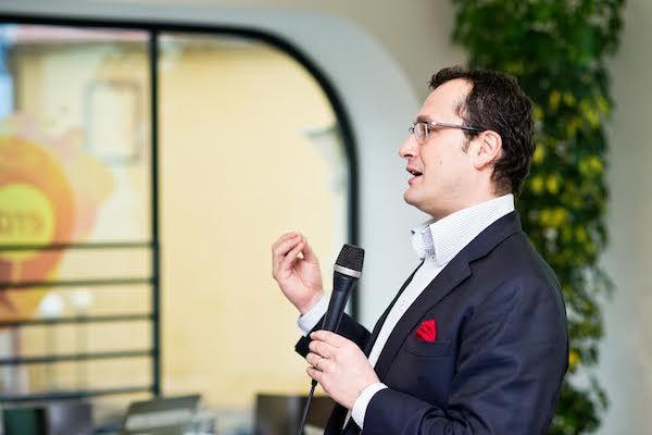 Dalibor Balšínek mluví o svém projektu Echo24. Foto: Vojta Herout