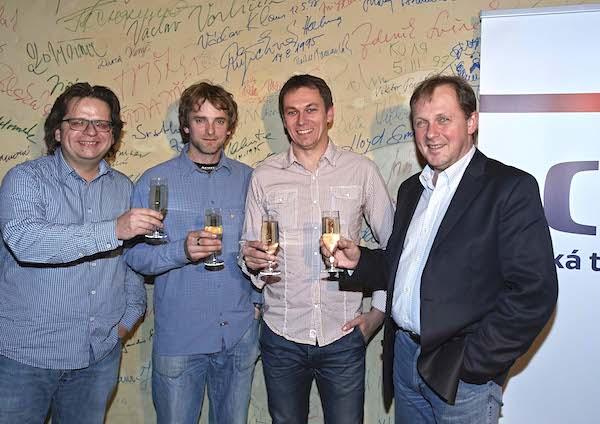 Zleva Tomáš Hoffman, Marek Epstein, Jiří Vejdělek a šéf ČT Petr Dvořák. Foto: ČT