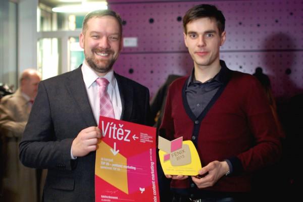 Ducháček to zařídil. Jaroslav Poláček (vlevo) a Petr Ducháček oceněni za nejlepší sociální profil a kampaň. Foto: Sandra Kisić