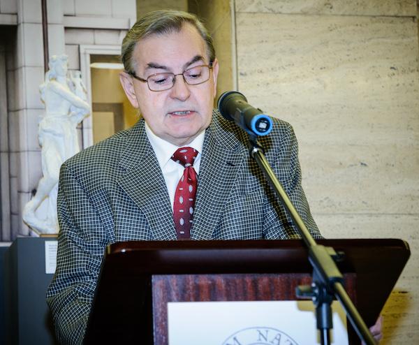 Laudatio na Klímu přednesl Vladimír Bako. Foto: Martina Votrubová