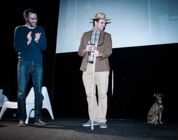 Po všech těch celebritách tentokrát přišel prezentovat i pes. Foto: Martina Votrubová