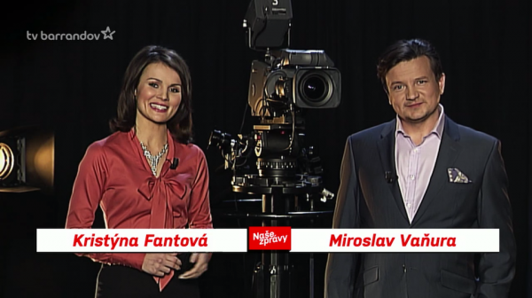 Kristýna Fantová a Miroslav Vaňura. Repro: barrandov.tv
