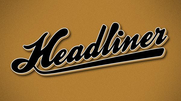 Logo nového časopisu Headliner