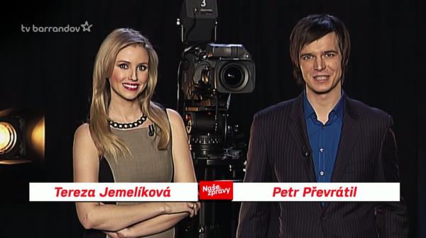 Tereza Jemelíková a Petr Převrátil. Repro: barrandov.tv