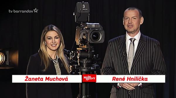 Žaneta Muchová a René Hnilička. Repro: barrandov.tv