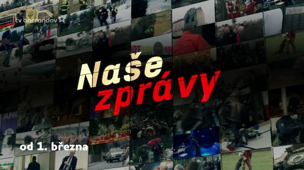 Inovované Naše zprávy - dosud Hlavní zprávy - startují v sobotu 1. března. Repro: barrandov.tv