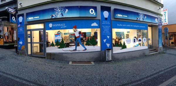 Elite Solutions navrhla loni na podzim pro českého operátora O2 kompletní branding vybraných prodejen.