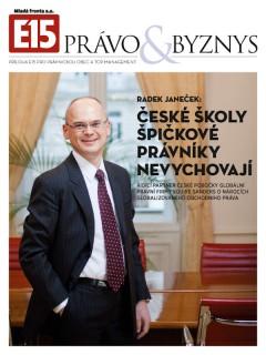 Titulní strana magazínu Právo & byznys