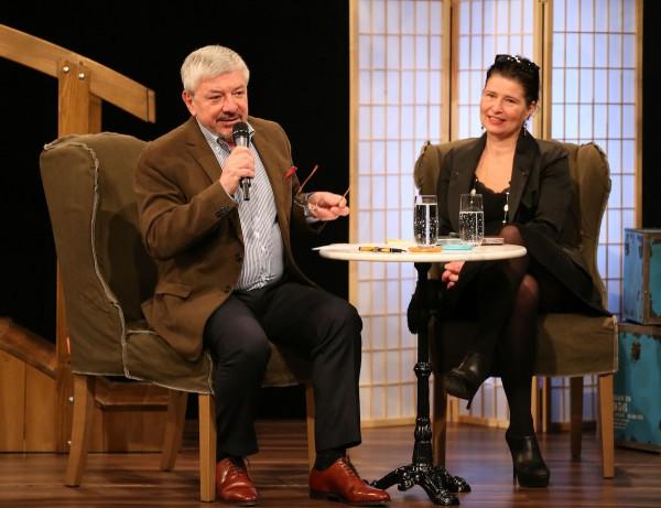Vladimír Železný a Markéta Zahradníková, programová ředitelka Barrandova. Foto: TV Barrandov
