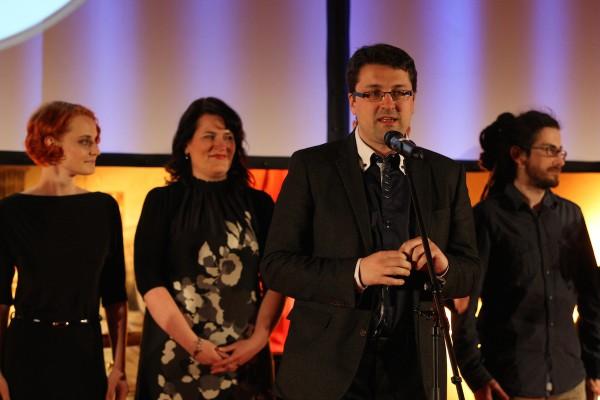 Tým agentury Dark Side oceněn za práci pro Poštovní spořitelnu, v popředí Tomáš Jindříšek. Foto: Martin Borovička