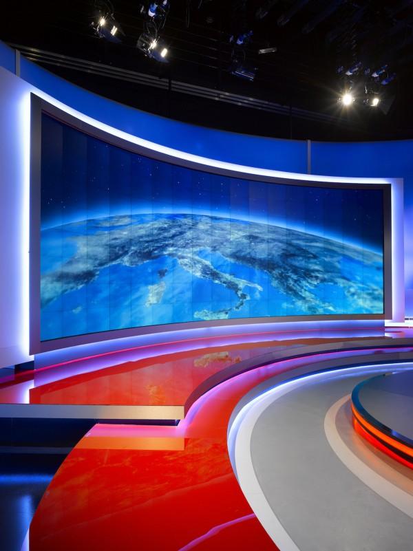 Nové studio Televizních novin. Foto: TV Nova