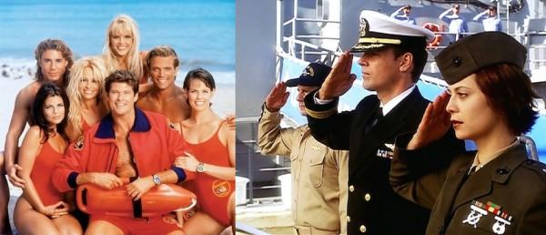 Pobřežní hlídka a Jag, dva populární americké seriály minulých dekád