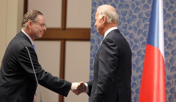 Roman Prorok při setkání s viceprezidentem USA Joe Bidenem v říjnu 2009. Foto: Michal Růžička / Mafra / Profimedia.cz