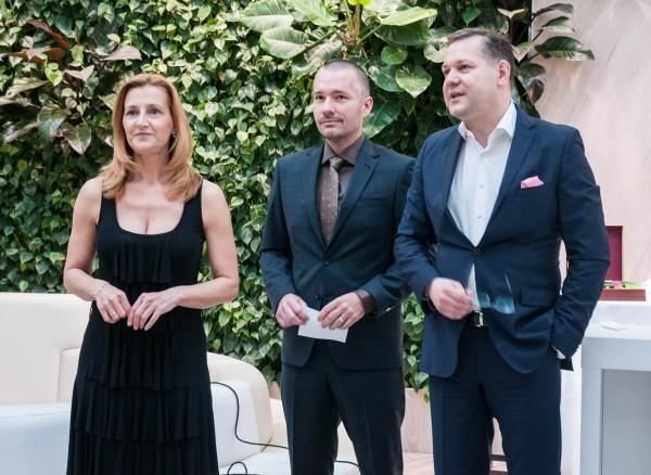 Drtinová, Veselovský a šéf Economie Kamil Čermák. Foto: Martina Votrubová