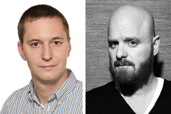 Karel Friml (vlevo) a Karel Vágner