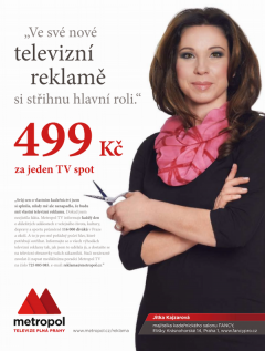 Inzerát na reklamu v Metropolu. Repro: e15.cz