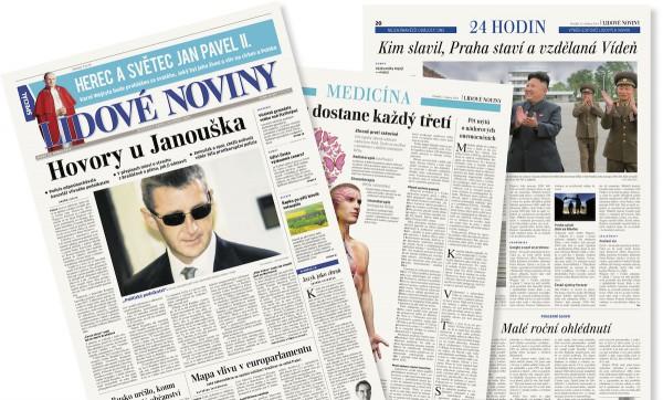 Lidové noviny přidají na poslední stránce rychlý přehled 24 hodin