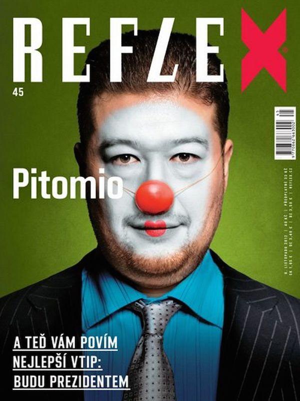 Zkomoleninu Reflex poprvé použil na titulní straně čísla 45 z roku 2012