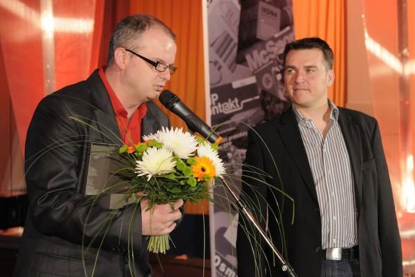 Vladislav Sobol a David Švábenický oceňováni za firemní noviny Horník. Foto: Vladimír Weiss