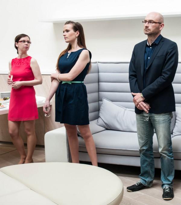 V týmu jsou i produkční z České televize, vlevo Lenka Vinšová, a editor Jan Ouředník. Foto: Martina Votrubová
