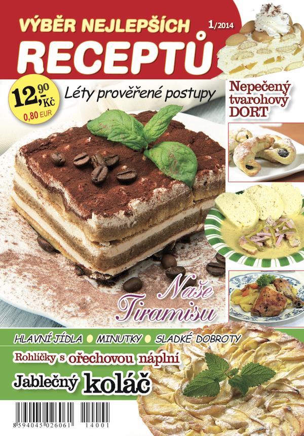 Titulní strana úvodního vydání měsíčníku Výběr nejlepších receptů