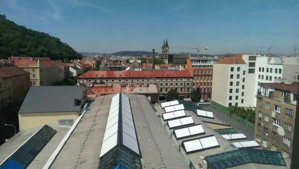 Výhled z 8. patra objektu, kde bude sídlit Zdeněk Bakala a jeho manažeři