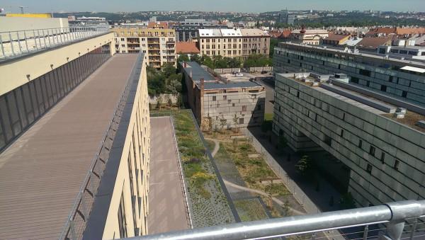 Výhled z 8. patra objektu
