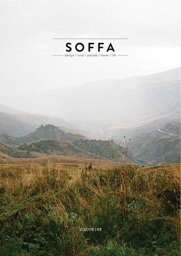 Titulní strana prvního plnohodnotného čísla časopisu Soffa
