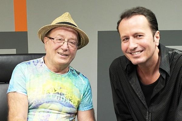 Moderátor Libor Baselides s Petrem Jandou v novém pořadu Celebrity s.r.o.