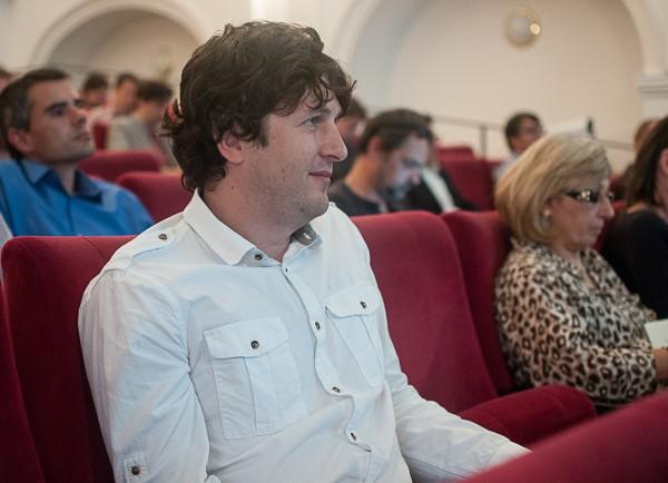 Štěpán Horn na červnové mikrokonferenci Médiáře. Foto: Martina Votrubová