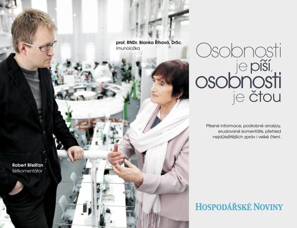 Komentátor Břešťan v kampani Hospodářských novin
