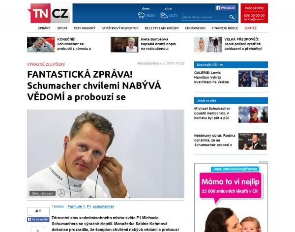 Nová podoba TN.cz: článek. Kliknutím zvětšíte