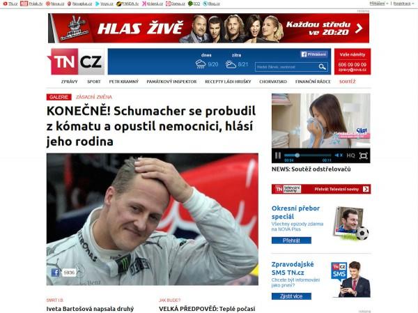 Nová podoba TN.cz: homepage pro stolní počítač. Kliknutím zvětšíte