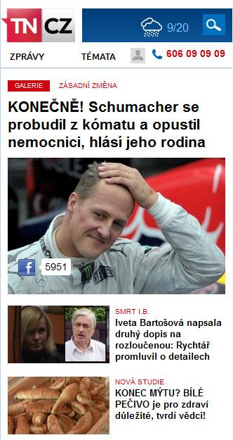 Nová podoba TN.cz: homepage pro mobily